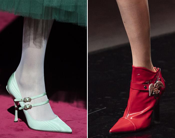 Модные туфли с узким носком