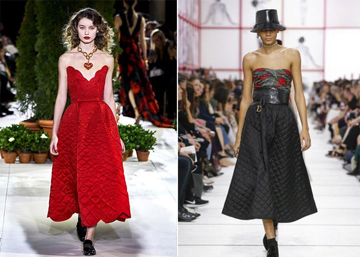 Стеганые платья и юбки 2019