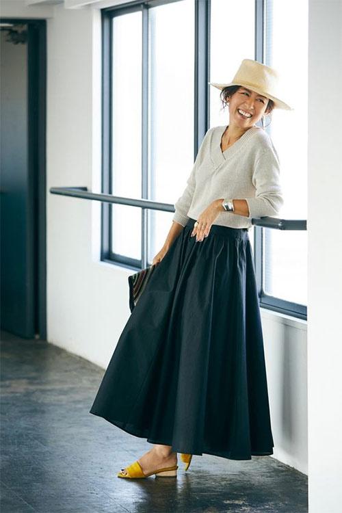 Пышная юбка + пуловер