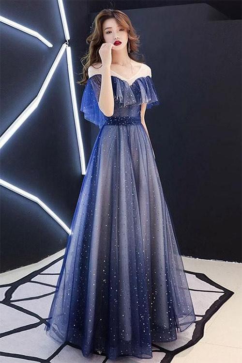 Платье ан новый год цвета Galaxy Blue