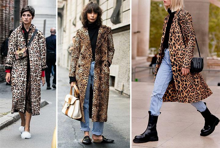 Пальто с анималистическими принтами для осени 2020 или весны 2021