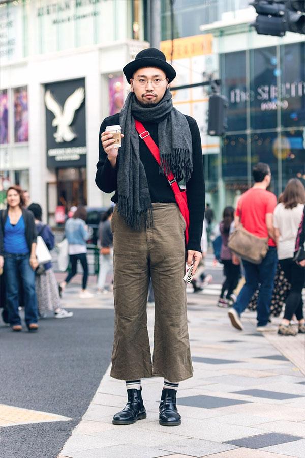Уличный стиль Токио осень 2019