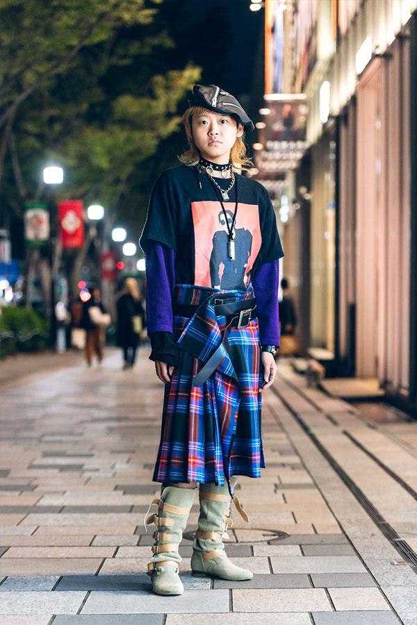 Самые странные образы гостей на показах в Токио сезона весна-лето 2020