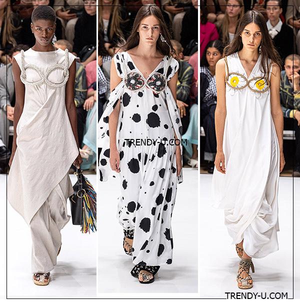 Акцент на лиф: платья из коллекции JW Anderson весна-лето 2020