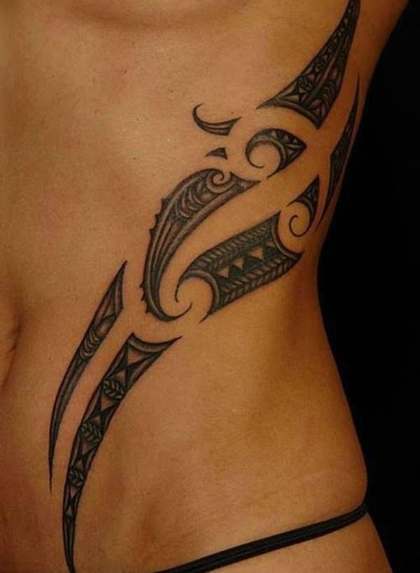 Татуировка для девушки в полинезийском стиле