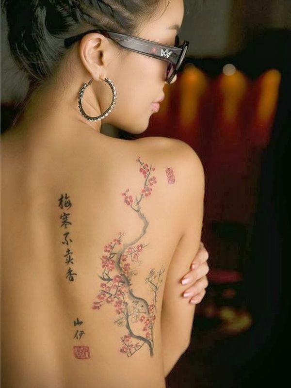 Татуировка в японском стиле женский вариант