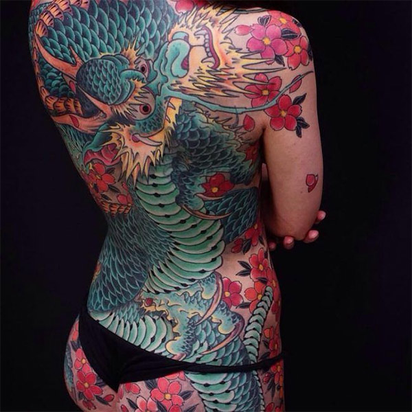 Татуировка в японском стиле
