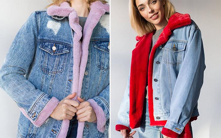 Модная зимняя куртка на подкладке из эко-меха от бренда Бочарова