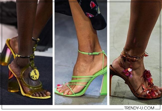 Модные босоножки на каблуке 2020 от Balmain, Prabal Gurung, Versace