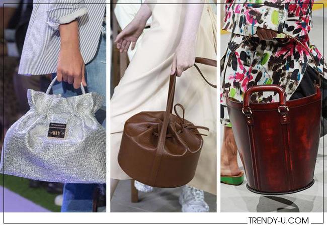 Модные сумки в форме ведра Brandon Maxwell, AWAKE Mode и Marni весна-лето 2020