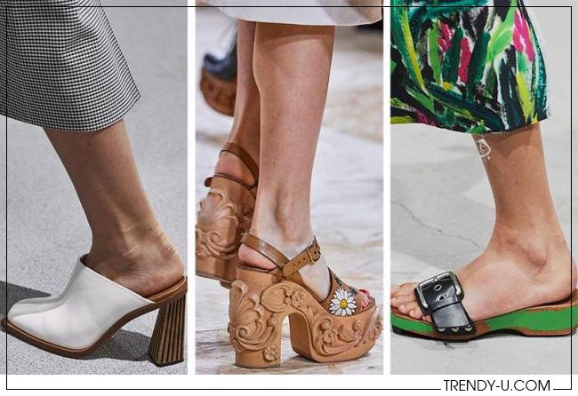 Обувь на ждеревянной подошве Givenchy, Miu Miu и Marni SS 2020