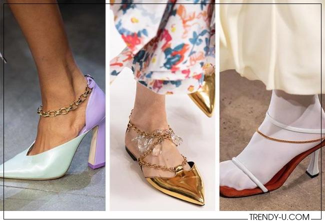 Обувь с цепочками вместо хлястика от Prabal Gurung, J.W. Anderson и Proenza Schouler