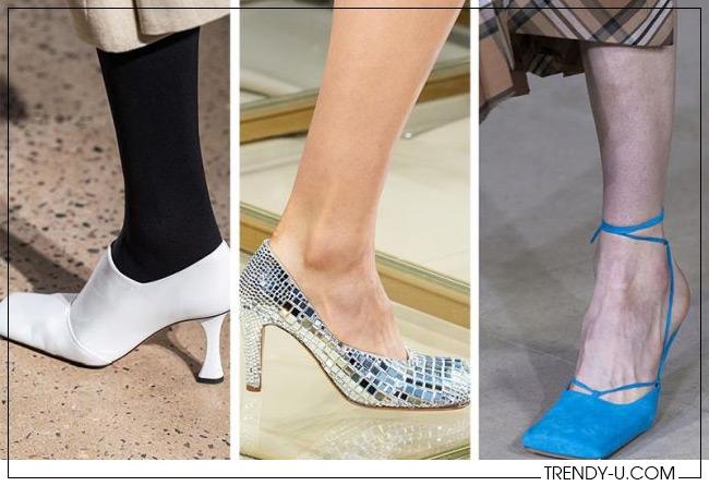 Модные туфли с квадратным носком от Proenza Schouler, Bottega Veneta и AWAKE Mode
