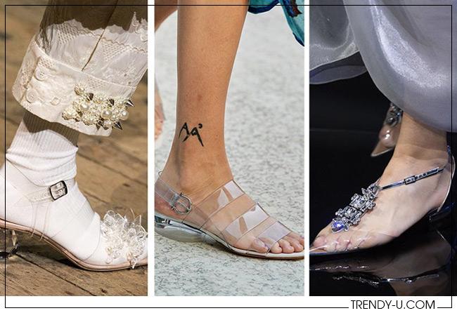 Летняя обувь из пластика от Simone Rocha, Salvatore Ferragamo и Emporio Armani 2020