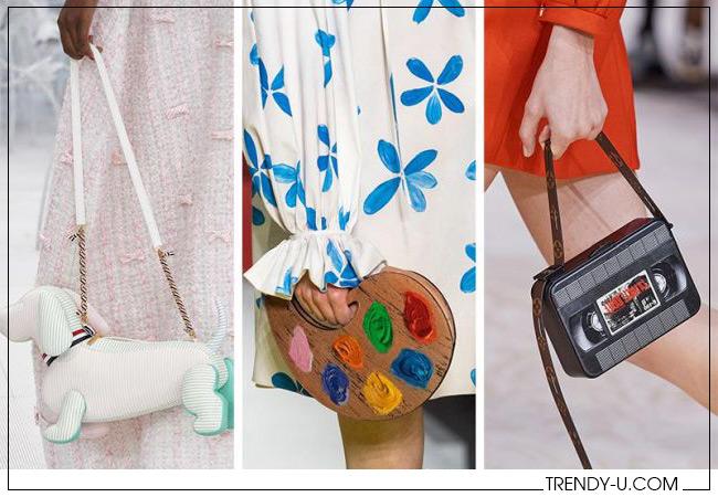 Экстравагантные сумки от Thom Browne, Moschino и Louis Vuitton