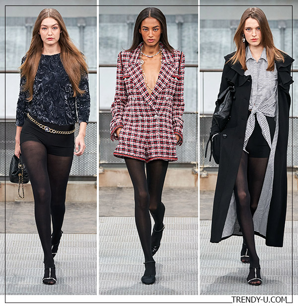 Короткие шорты в весенне-летней коллекции Chanel 2020