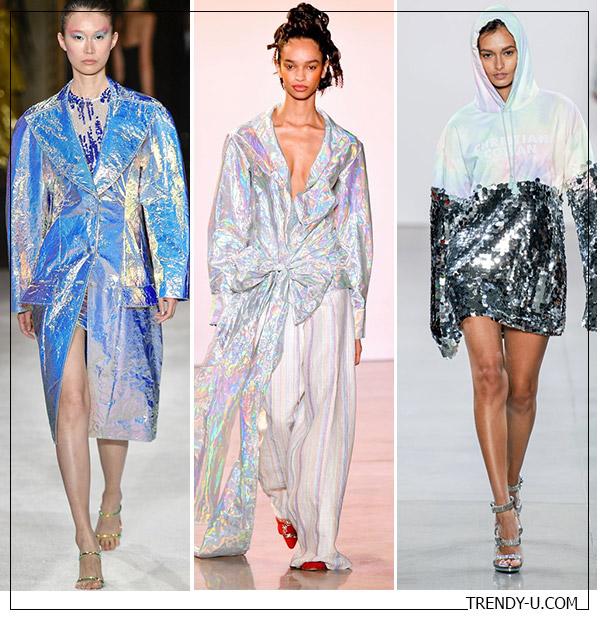 Одежда цвета металлик весна-лето 2020 от ian Siriano, Christopher John Rogers и Christian Cowan