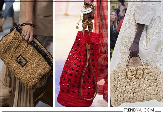 Плетеные сумки из весенне-летних коллекций Givenchy, Ulla Johnson и Valentino 2020
