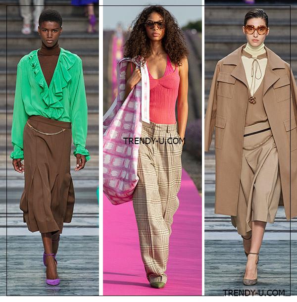 Брюки и юбка с заниженной талией от Jacquemus, Roland Mouret и Victoria Beckham весна-лето 2020