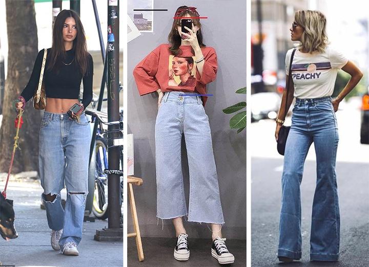 3 фасона джинсов и три разных образа