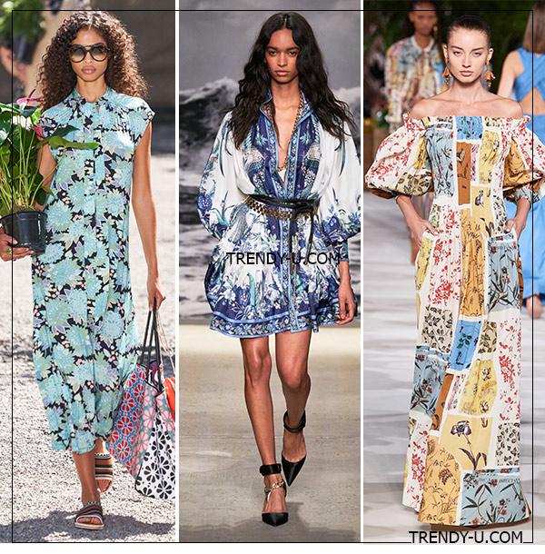 Платья с цветочными принтами от Kate Spade, Zimmermann и Oscar de la Renta