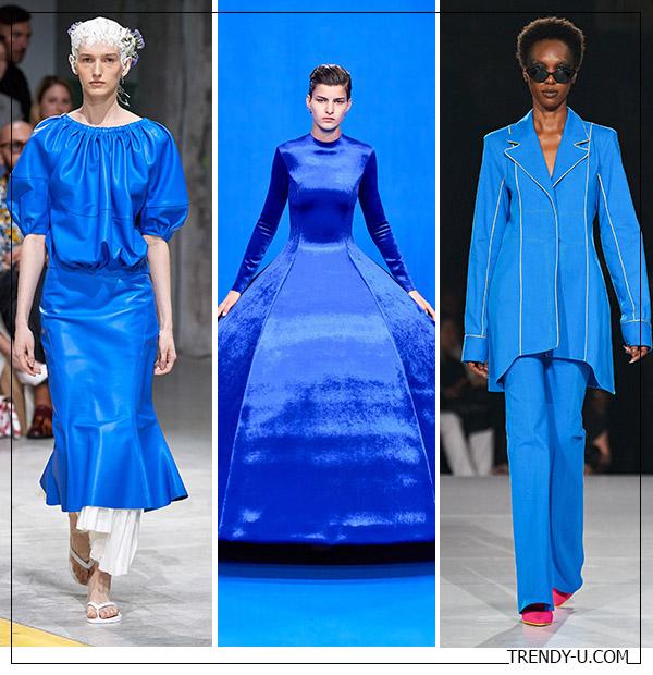 Одежда цвета Classic Blue: образы от Marni, Balenciaga и Pyer Moss 2020