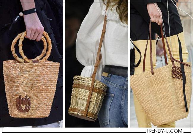 Модные плетеные сумки от Miu Miu, Celine Loewe весна-лето 2020