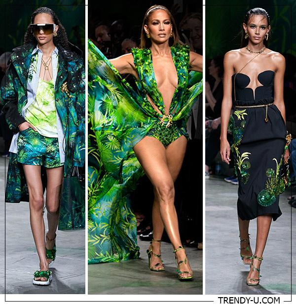 Цветочные растительные принты 2020 в коллекции Versace SS 2020