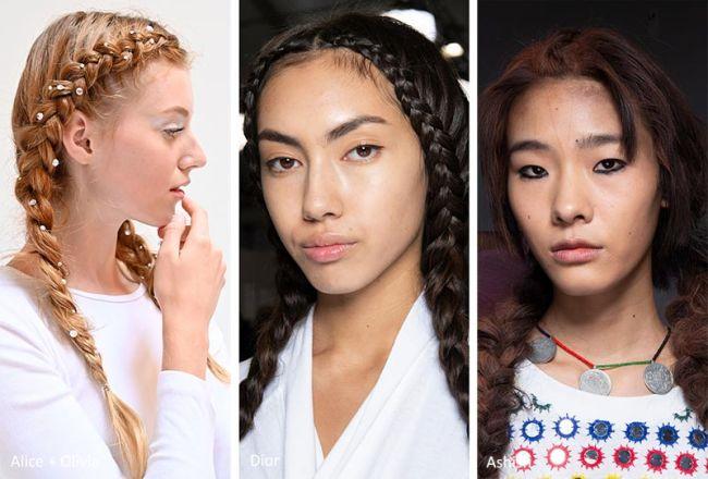 Модные косы весна-лето 2020. Коллекции Alice+Olivia, Dior