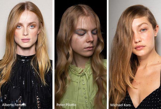 Медовый цвет волос. Коллекции Alberta Ferretti, Peter Pilotto, Michael Kors