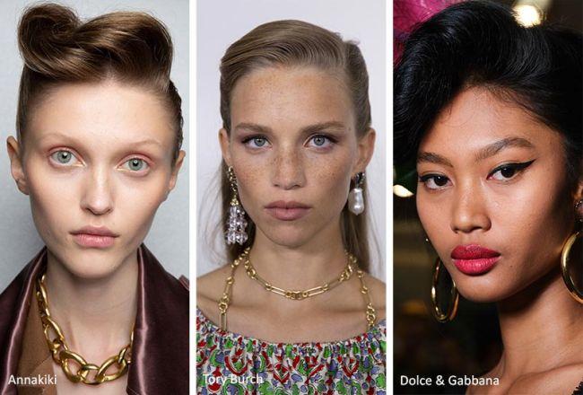 Модные ретро-прически весна-лето 2020: Annakiki, Tory Burch, Dolce&Gabbana