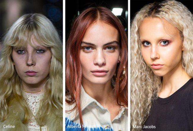 Волнистые волосы - тренд лета 2020. Celine, Alberta Ferretti, Marc Jacobs