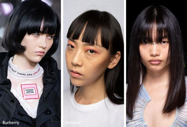 Модные стрижки женские весна-лето 2020. Burberry, Annakiki, Off-White