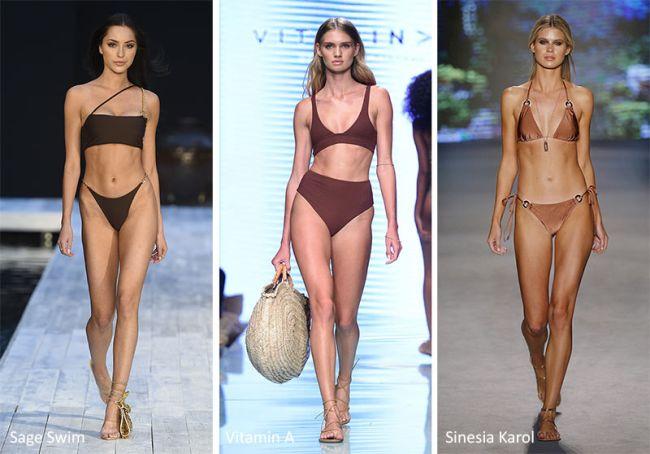 Какие купальники в моде - коричневых оттенков. Sage Swim, Vitamin A, Sinesia Karol