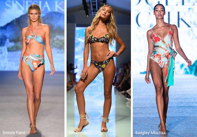 Модные купальники с цветами. Sinesia Karol, Tori Praver, Badgley Mischka