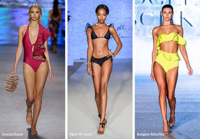 Купальники с рюшами - модные модели лета 2020