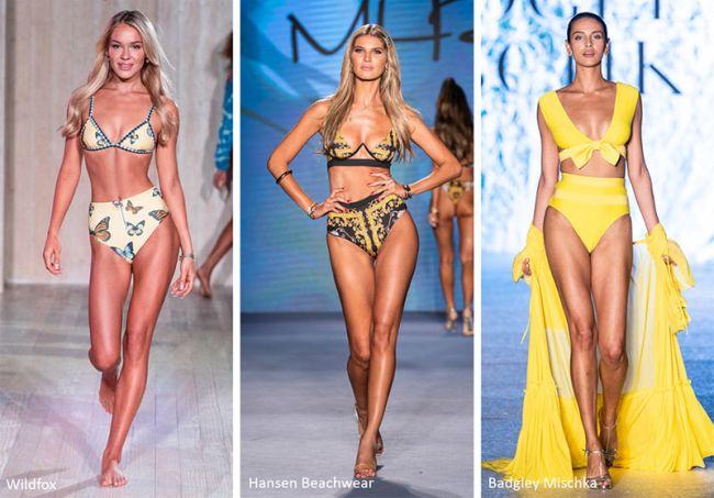 Плавки с высокой талией - модные купальники лето 2020