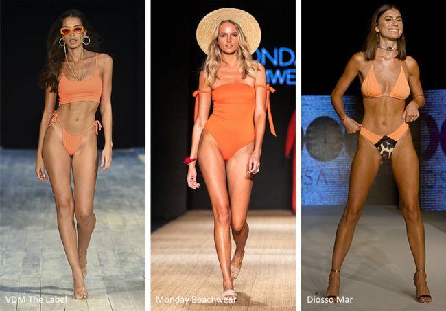 Модные купальники весна-лето 2020 - оранжевые