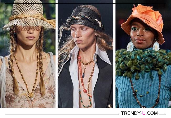 Модные аксессуары из бусин Dior, Saint Laurent, Marc Jacobs весна-лето 2020