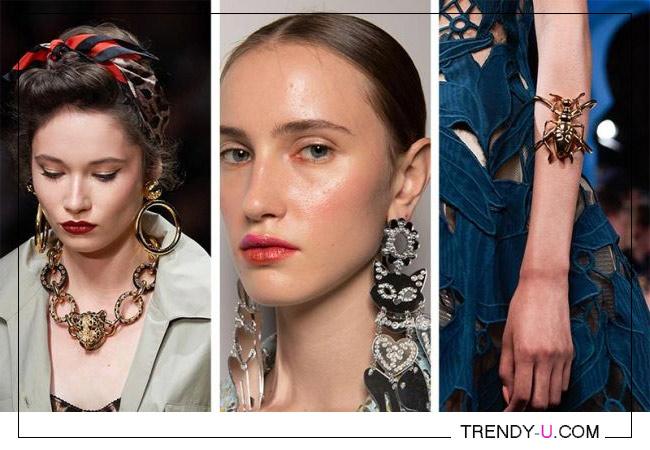 Модные украшения Dolce Gabbana, Vivetta, Oscar de la Rena SS 2020