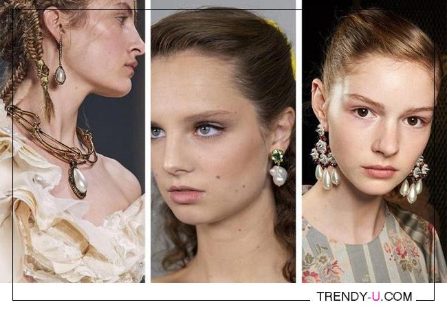Украишения с жемчугом из весенне-летних коллекций Alexander McQueen, Tory Burch и Simone Rocha 2020