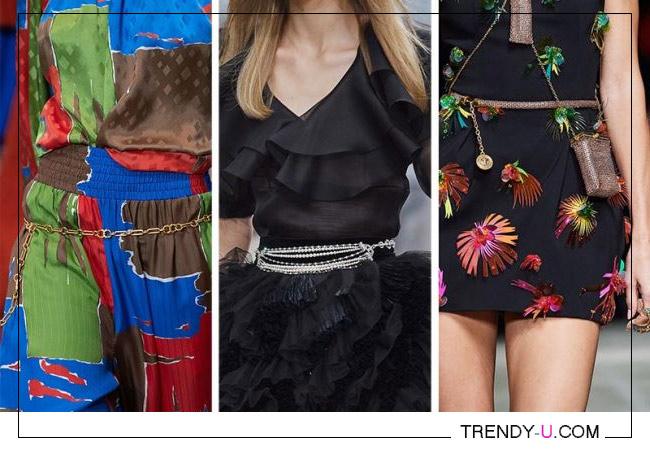 Модные аксессуары весна-лето 2020 из коллекций Tory Burch, Chanel и Versace