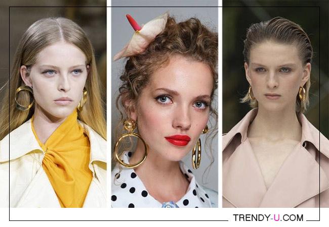 Серьги-кольца коллекции Sies Marjan, Dolce&Gabbana и Carolina Herrera 2020