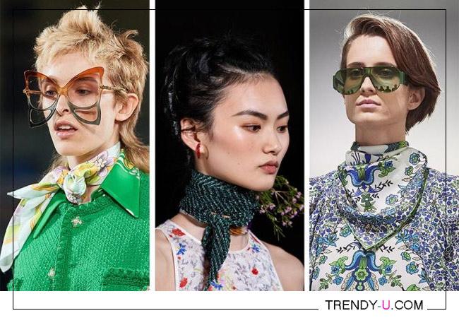 Шейные платки - модный аксессуар весны и лета 2020. Коллекции Mark Jacobs, Missoni и Givenchy SS 2020