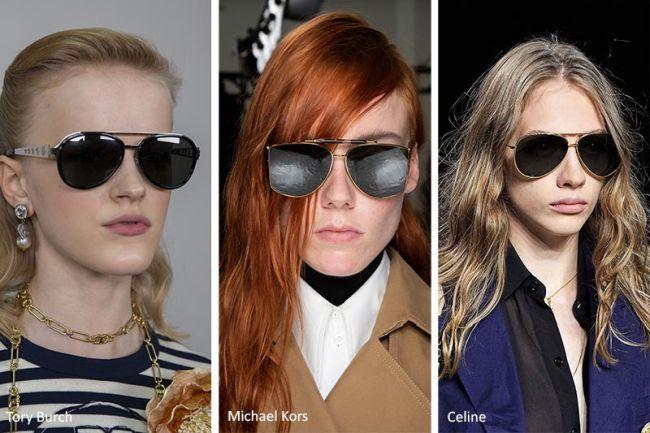 Модные очки-авиаторы весна-лето 2020: Tory Burch, Michael Kors, Celine