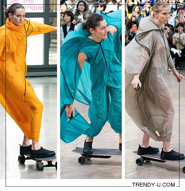 Модели на показе одежды в спортивном стиле Issey Miyake SS 2020