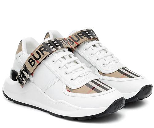 Модные кроссовки Burberry на платформе 2020 женские