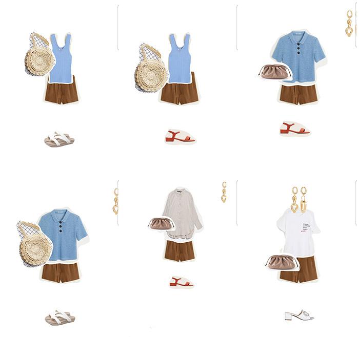 Капсульный гардероб в отпуск: образы с шортами