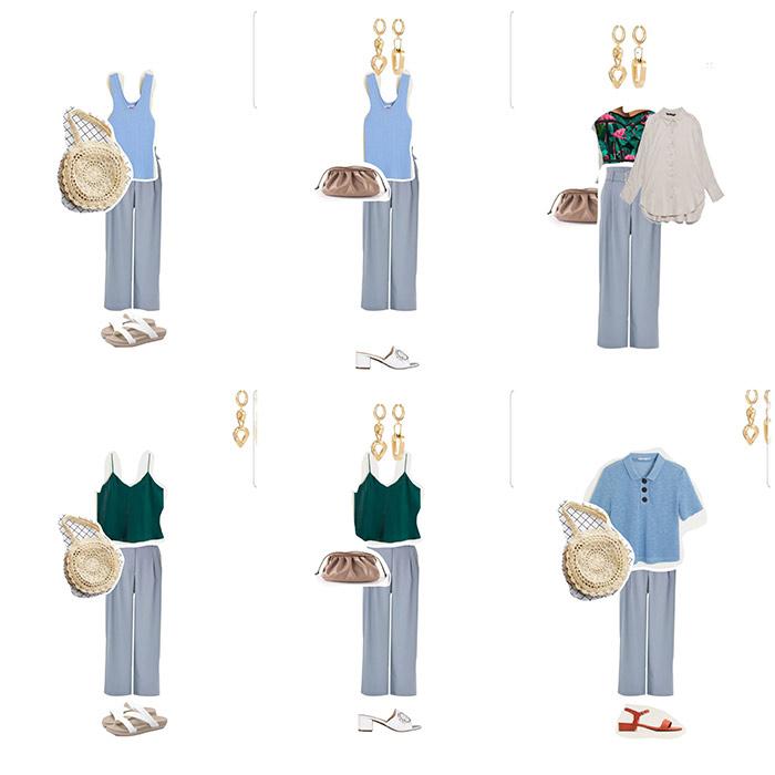 Образы на основе брюк, однослойные и многослойные