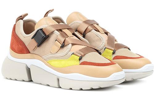 Женские модные кроссовки Chloe 2020 multicolor в стиле девяностых